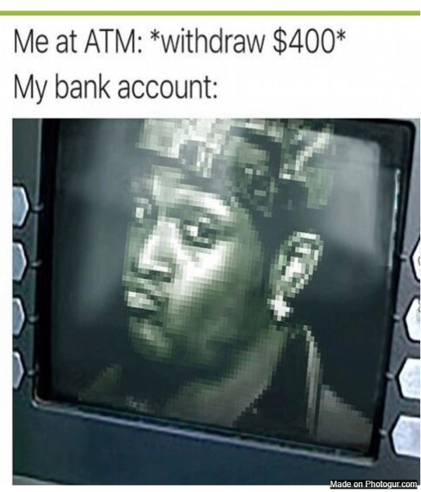 Me at atm