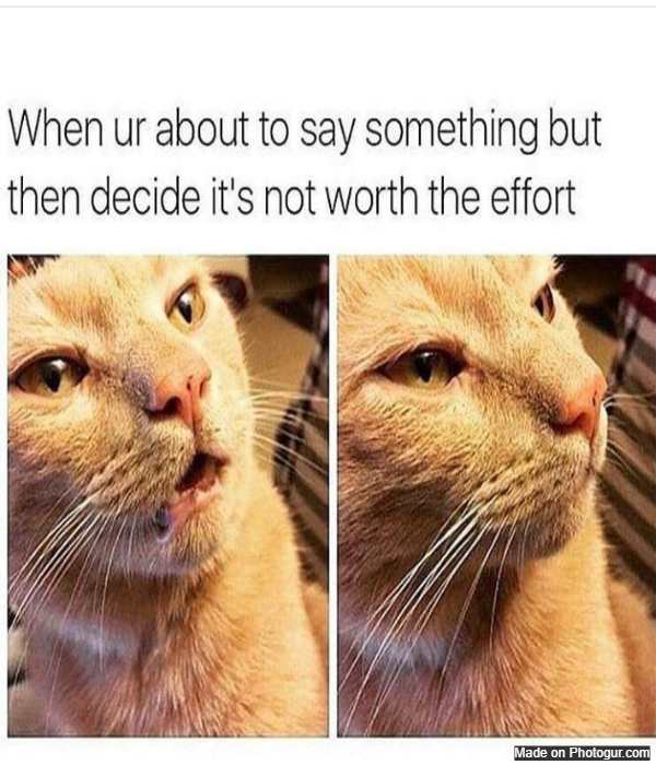 It's me - everytime I am decide to say something