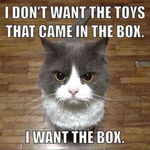 I don't want the toys that came in the box.