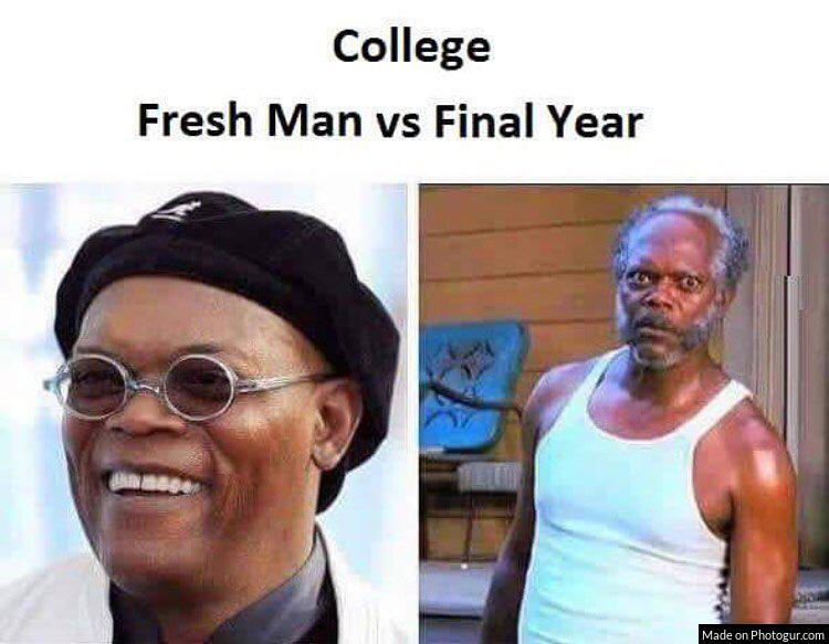 College Fresh Man vs Final Year