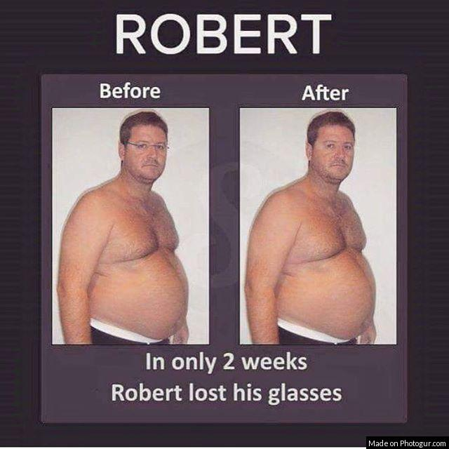 ROBERT Before After In only 2 weeks Robert lost his glasses