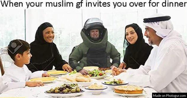 When your muslim gf invites you over for dinner