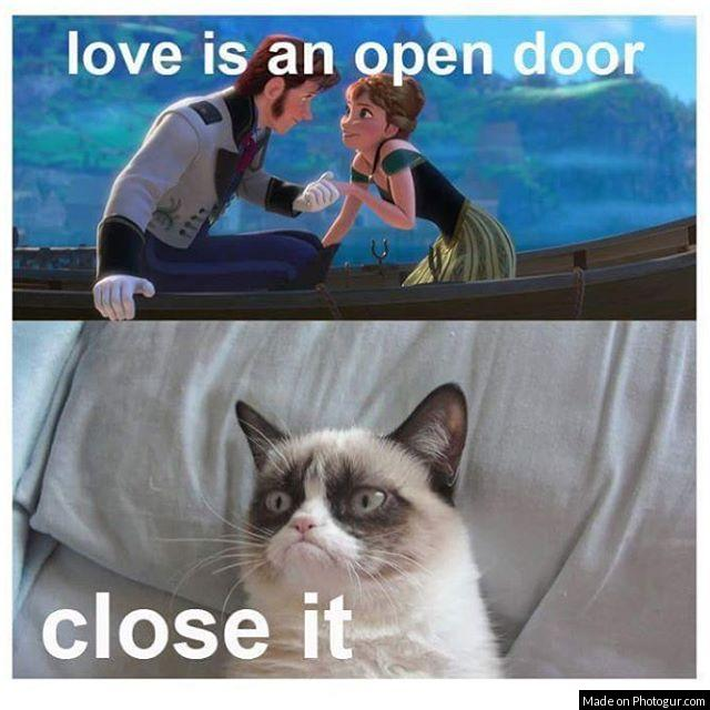 love is an open door close it